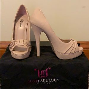 Paprika Blush Platform Peeptoe Heels Size 7